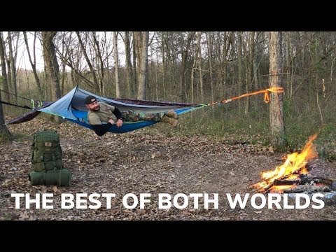 Solo Overnight in an Ultralight Tree Tent and Campfire Double Bacon Pizza
