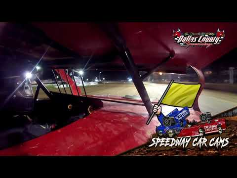 #83 Ben Newell - Midwest Mod - 8-27-2021 Dallas County Speedway - In Car Camera - dirt track racing video image