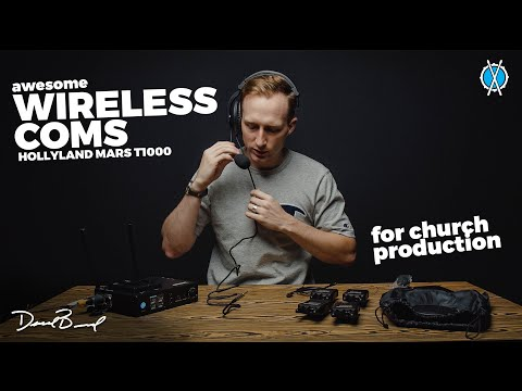 Awesome wireless coms for church production! // Hollyland Mars T1000