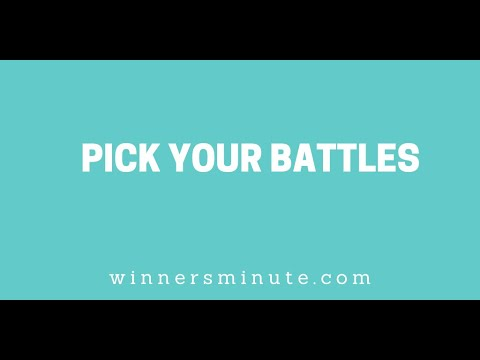 Pick Your Battles // The Winner's Minute With Mac Hammond
