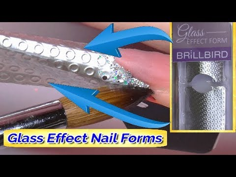 GLASS EFFECT FORMS - SCULPTED ACRYLIC NAILS | These things are SO cool | ABSOLUTE NAILS