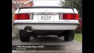 Mercedes Benz 560SL (Custom Exhaust)
