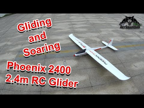 Phoenix 2400 Large Electric RC Glider Powered RC Glider Gliding and Soaring over river - UCsFctXdFnbeoKpLefdEloEQ