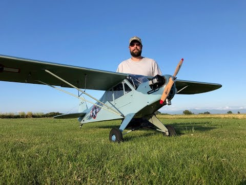 "H-King 94.5"" Navy Piper Cub 2400mm from HobbyKing MAIDEN FLIGHT! - UCLqx43LM26ksQ_THrEZ7AcQ"