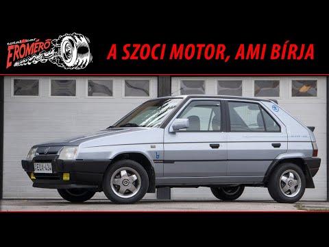 A szoci motor, ami bírja – Škoda Favorit 1.3 Silverline a Totalcar Erőmérőben