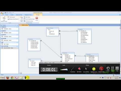 MS Access 2007  30  مسح وتشفير البيانات كلمة مرور للبيانات