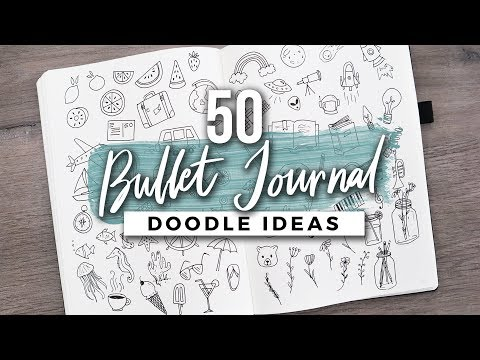 50+ (MORE) Bullet Journal Doodle Ideas!