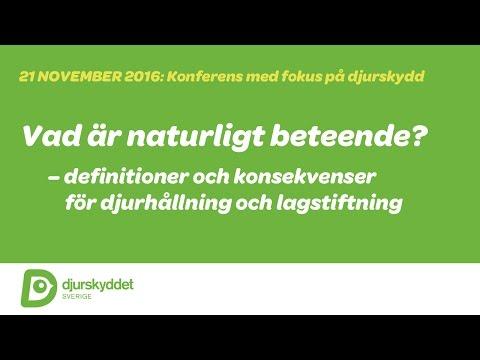 Med fokus på djurskydd: Vad är naturligt beteende? (DEL 2)