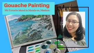 Real Time Scenic Painting with Gouache  #Manila #Philippines #art