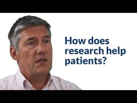 How does research help patients?