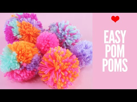 How to Make Pom Poms - Cardboard and Plastic Maker