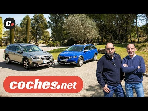 Subaru Outback vs Skoda Scout (Octavia) 2019 | Prueba / Test / Review en español | coches.net