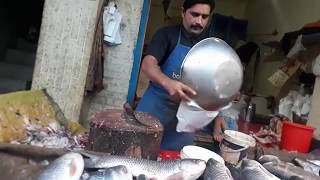 Amazing Cutting Fish | Fastest Rohu Fish Cutting - How To Cut Rahoo Fish Cutting - Fast Food 786