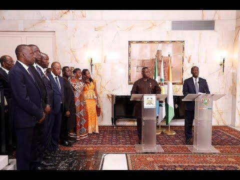 Point de presse conjoint animé par les Présidents Alassane OUATTARA et Julius MAADA BIO
