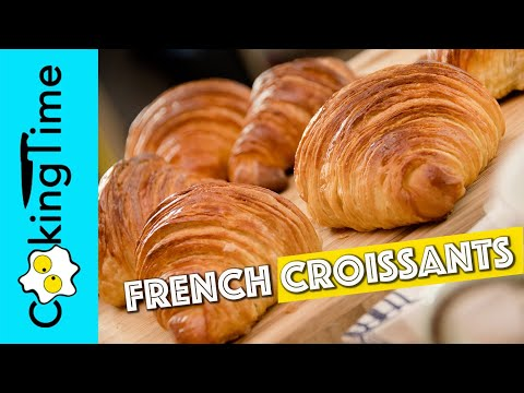 FRENCH CROISSANTS + laminated yeast dough recipe | how to make at home | ENGLISH DUBBING