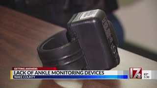 Shortage of ankle monitoring devices in Wake County costing taxpayers more