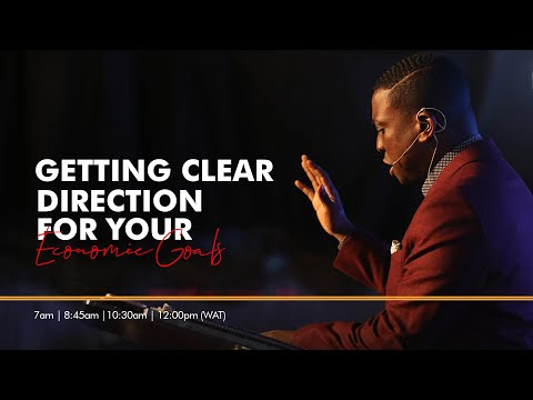 Getting Clear Direction For Your Economic Goals Sunday 23:8 :2020  message only