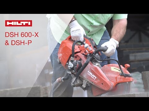 INTRODUCING DSH 600-X and DSH-P Gas Saw and Onboard Water Pump