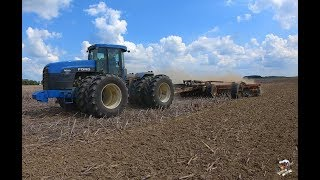 Summer Tillage with a Ford Versatile 9880 tractor and a Versatile Fury high speed disk