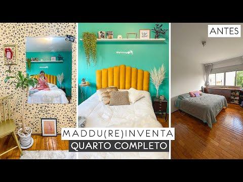DIY Transformando Quarto completo gastando pouco! #Maddu(re)inventa #decoração #quarto