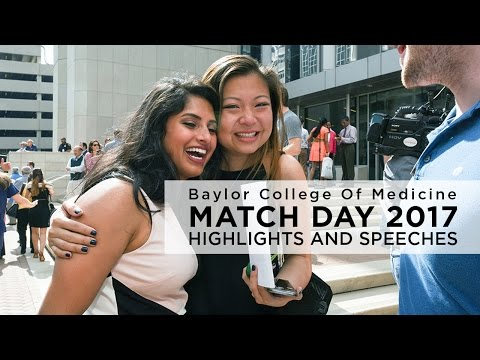 Highlights and speeches from Baylor College of Medicine Match Day 2017