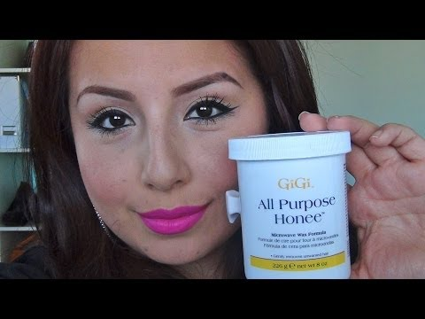 HOW TO WAX YOUR EYEBROWS AT HOME / REVIEW : GIGI ALL PURPOSE HONEE