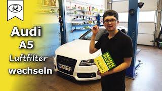 Cambio filtro aria motore Audi A5 8T