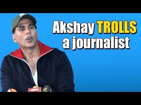 Akshay Kumar TROLLS A journalist | Toilet Ek Prem Katha Promotions