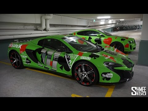 Gumball Stickers on the McLaren 650S and Bentley Supersports