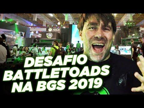 Desafio Battletoads + Banho de Slime na BGS 2019