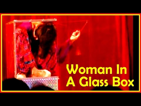 Woman That Folds Herself Into A Glass Box And Other Insane Contortion