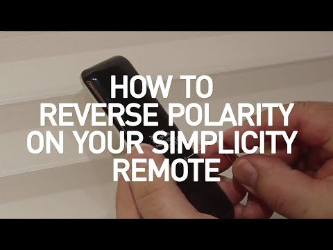How to Reverse Polarity in your Simplicity Remote