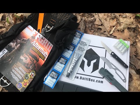 UNBOXING BattlBox Mission #50: 2 Knives, Cool Pack, VERY COOL Batteries, and More - Survival Gear
