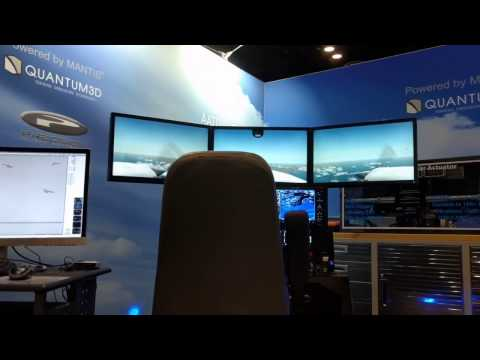 Precision Flight Controls Part task trainer on D-BOX booth at I/ITSEC 2016