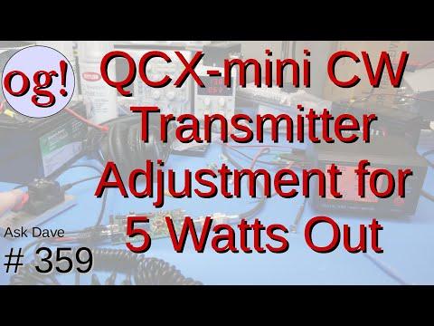 QCX-mini Transmitter Adjustment for 5 Watts (#359)