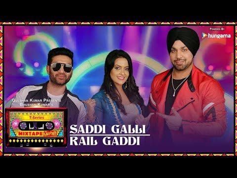 Saddi Galli / Rail Gaddi  Lyrics - Mixtape Punjabi | Deep Money | Preet Harpal | Amruta Fadnavis