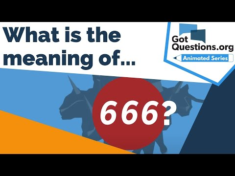 What is the meaning of 666?