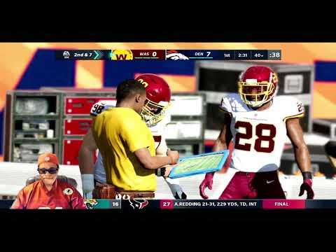 New All Pro Sliders Are Ready   Colin Kaepernick & The Broncos Vs Washington   Week 11  Madden 21
