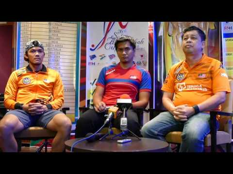 Malaysia Media conference. Sultan Azlan Shah Cup 20917