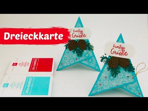 DIY--Dreieckkarte--Tetraeder Karte--Anleitung--Tutorial