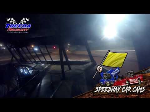 Winner #98 Jimmy Johnson - Stock 8 - 10-23-21 Toccoa Raceway - In-Car Camera - dirt track racing video image