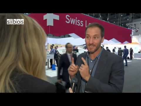 Qumram co-founder Mathias Wegmueller speaks at SIBOS16