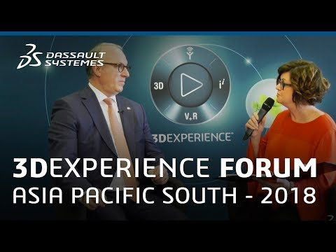 3DEXPERIENCE Forum Asia Pacific South 2018 - Interview with Sylvain Laurent - Dassault Systèmes