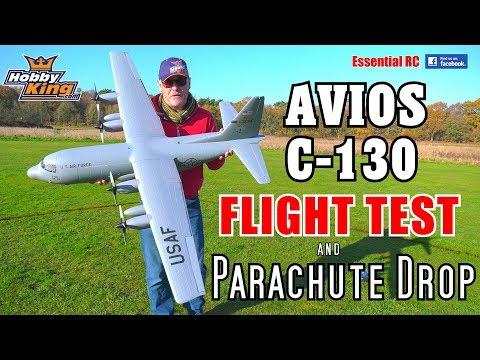 HobbyKing / Avios Lockheed C-130 Hercules PARACHUTE DROP and ESSENTIAL RC FLIGHT TEST - UChL7uuTTz_qcgDmeVg-dxiQ