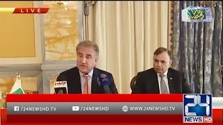 FM Shah Mehmood Qureshi Press Conference in Kuwait