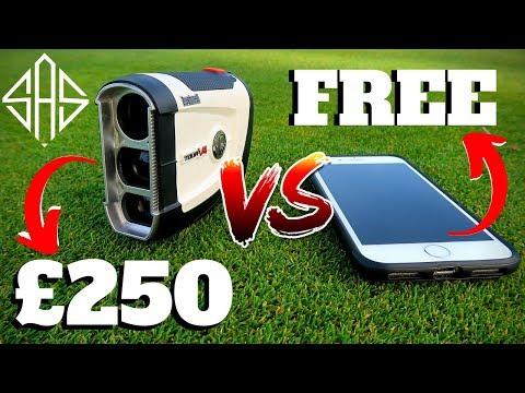 EXPENSIVE £250 RANGEFINDER VS FREE GPS IPHONE APP - (Surprising Results)