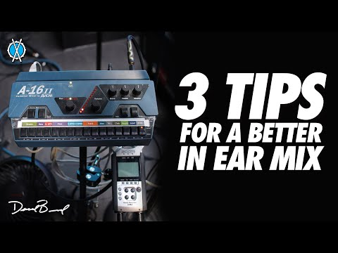 3 Tips for a better in ear mix! // Drum Vlog