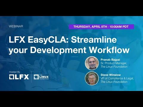LFX EasyCLA: Streamline your Development Workflow