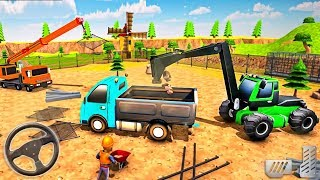 Build Jurassic Zoo Dinosaur - Animal Transport Construction Vehicles - Android GamePlay