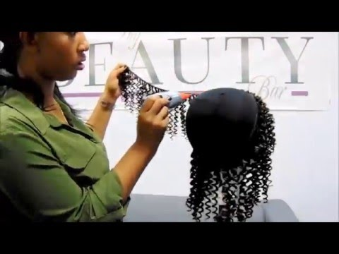 HOW TO DO A QUICK WEAVE / WIG WITH CURLY HAIR | @THYBEAUTYBAR